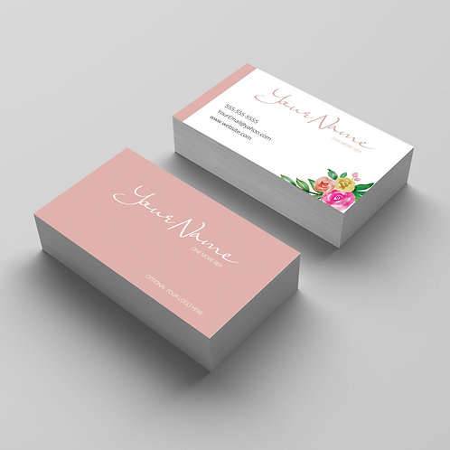 Zyia Active wear Business card feminine pink