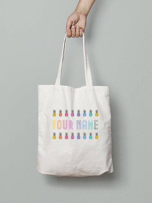 Pineapple custom tote bag