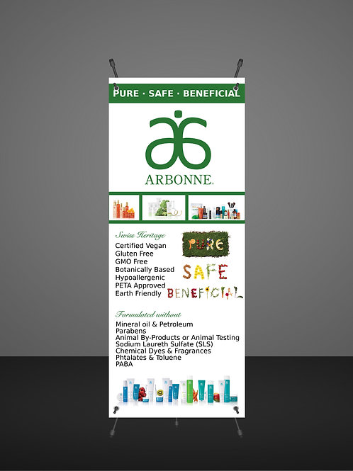 Arbonne Banner -Product display - Vendor Show
