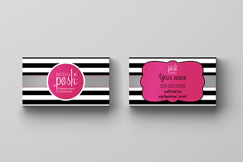 Perfectly Posh business card Stripes