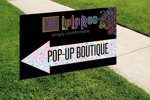 Lularoe Pop up boutique paisley yard sign
