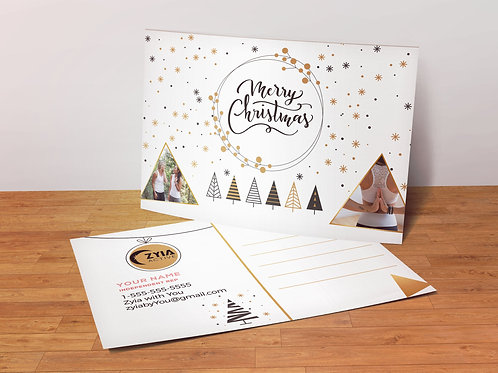 Merry Christmas ZYia Activewear Postcard