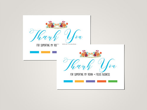 Rodan Fields Thank you card postcard printed floral