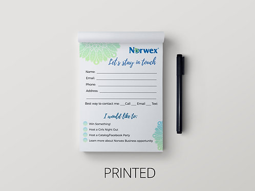 Norwex Notepad- Let's stay in touch Mandala