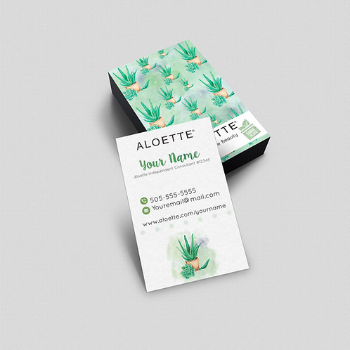 Aloette Business card consultant watercolor