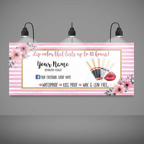 Lipsense banner pink watercolor