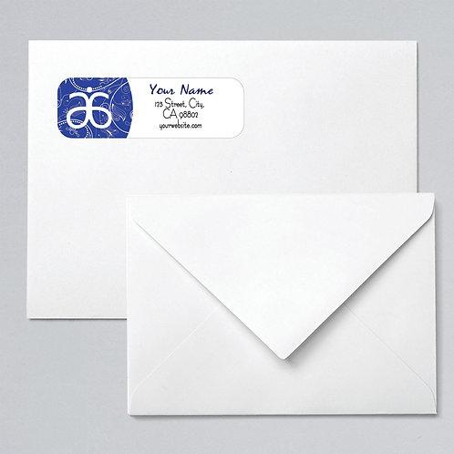Arbonne return address labels blue