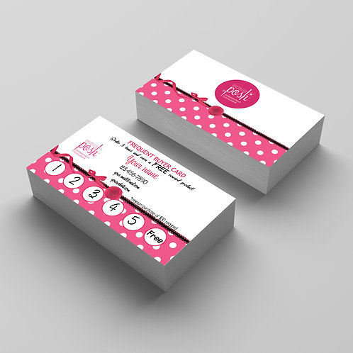 Perfectly Posh frequent buyer card hot pink polka dots