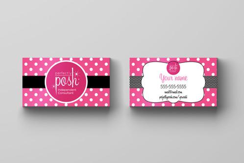 Perfectly posh business card hot pink polka dots perfectly posh business card hot pink polka dots colourmoves