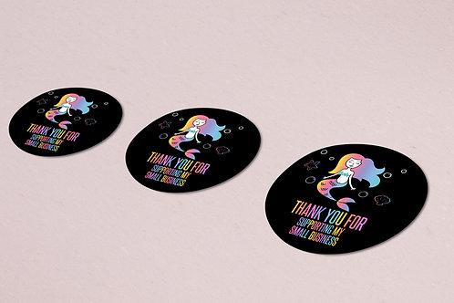 Thank you sticker Mermaid rainbow