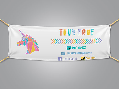 Lularoe banner Unicorn White
