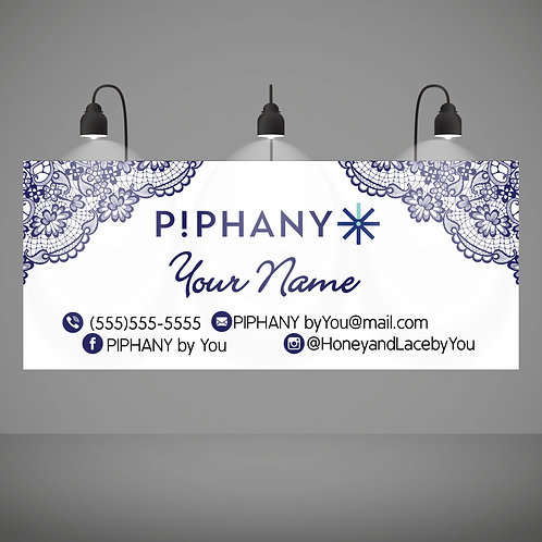 PIPHANY Stylist banner Blue lace