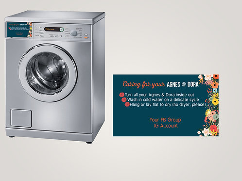Magnetic care card Agnes & Dora Floral 4