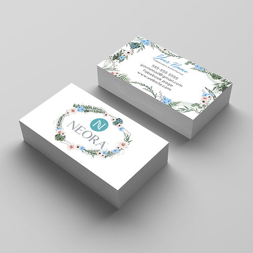 Neora Nerium Business card floral