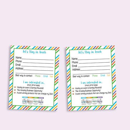 Customer contact card rodan fields color