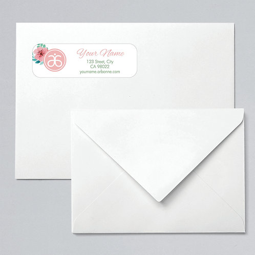 Arbonne return address labels watercolor