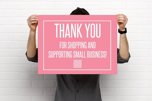 Thank you for your business- Lularoe Poster - Pink