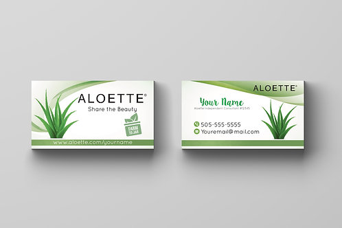 Aloette Business card consultant