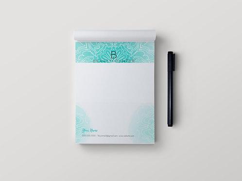BeautyCounter custom notepad- Mandala