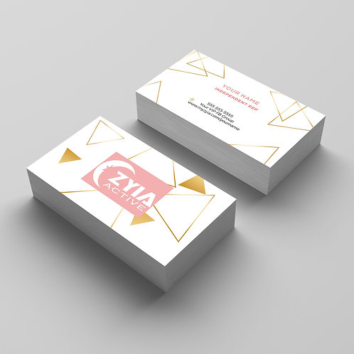 Zyia Active wear Business card