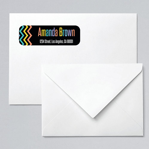 Lularoe return address labels  chevron rainbow