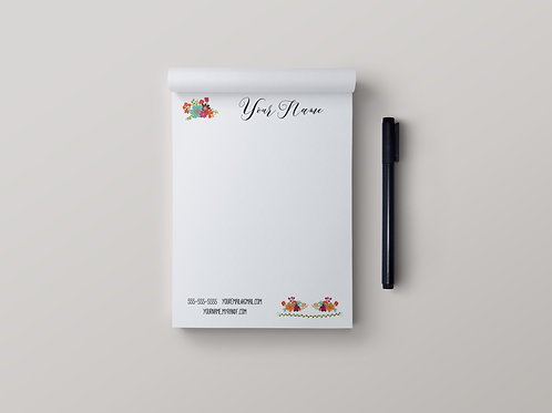 Rodan Fields stationery note pad floral