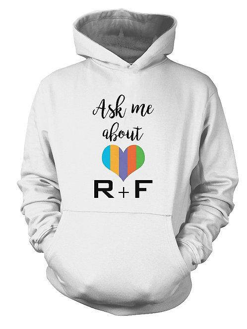 Ask me abour R+F gildan hoodie white