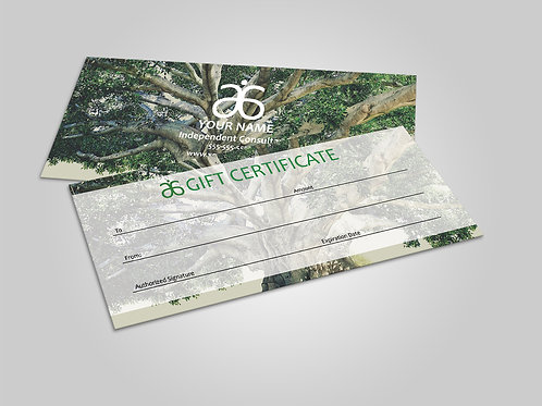 Arbonne gift certificate tree of life