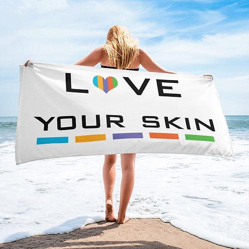 Love your Skin beach towel