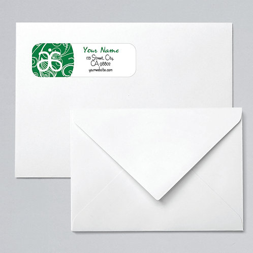 Arbonne return address labels green