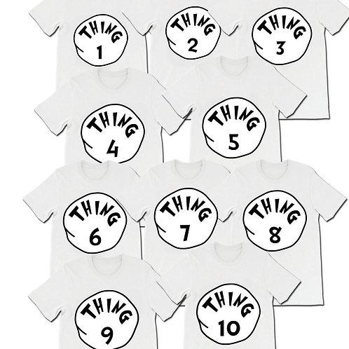Thing 1 to Thing 10 matching t-Shirts digital download