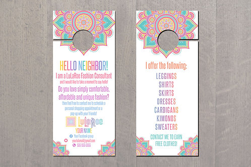 Door Hanger Lularoe business Mandala white