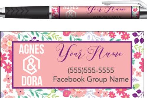 Agnes & Dora Floral business pen