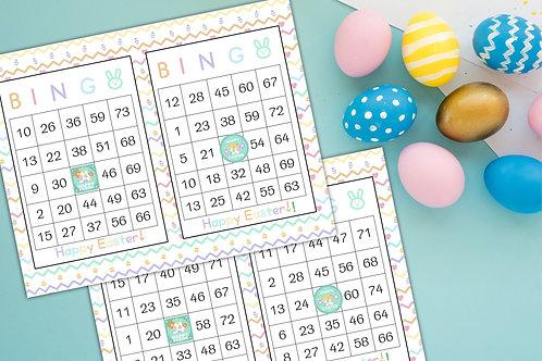 Happy easter bingo game printable