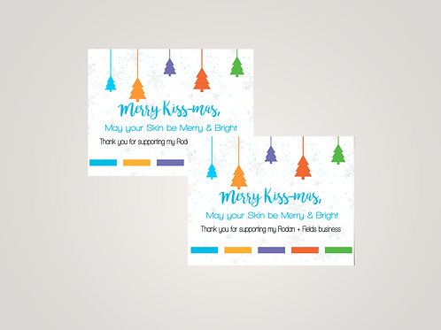 Merry kissmas Christmas Rodan + Fields postcard