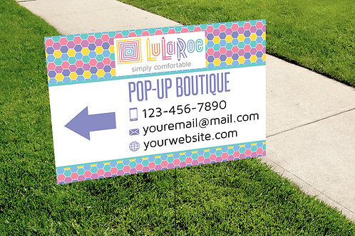 Lularoe Yard Sign - Pop-up Boutique sign - Honeycomb