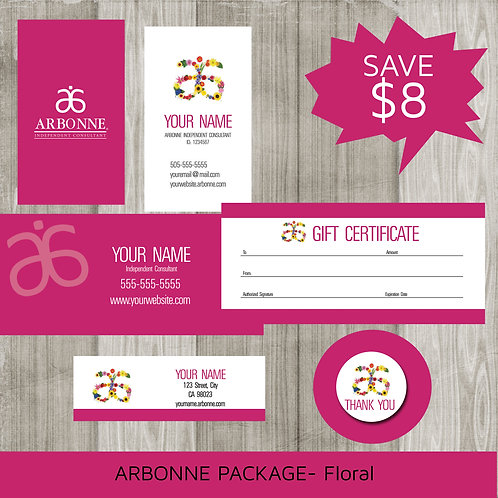 Arbonne marketing kit floral