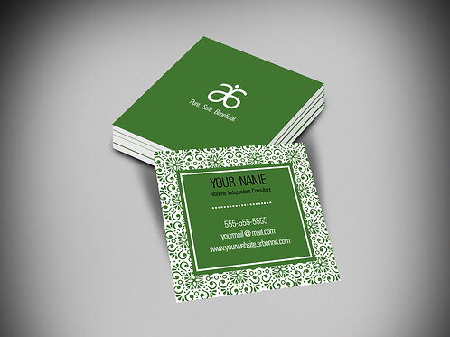 Boho Pattern Arbonne square business card