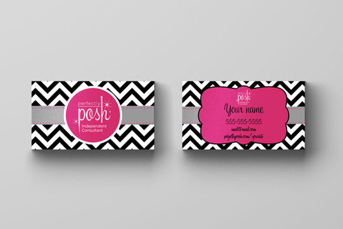 Perfectly Posh Business Card Chevron