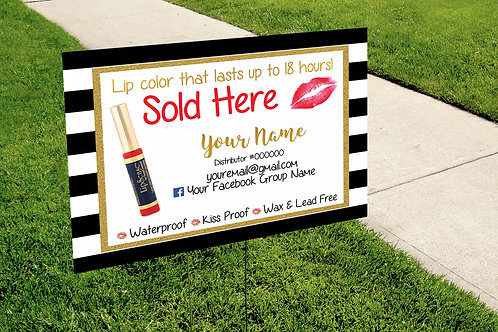 Lipsense Yard Sign - Lipstick sale open
