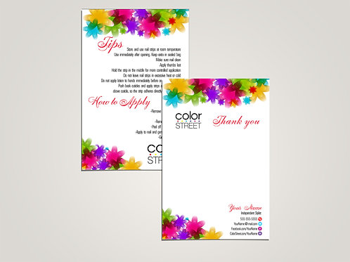 Tips and how to apply- Thank you card Color Street