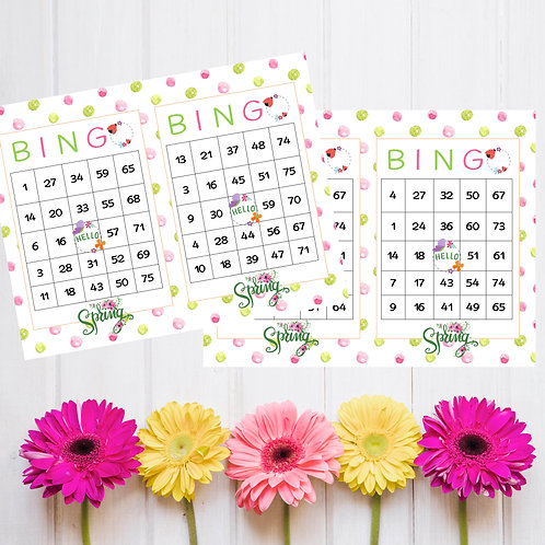 Spring Bingo game printable