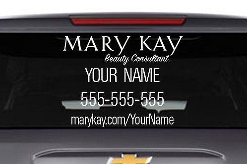 Mary Kay car decal white large