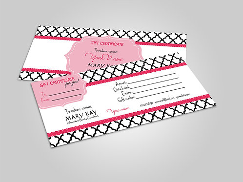 Mary Kay gift certificate morocco tile