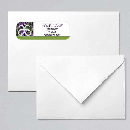 Arbonne return address labels lavander
