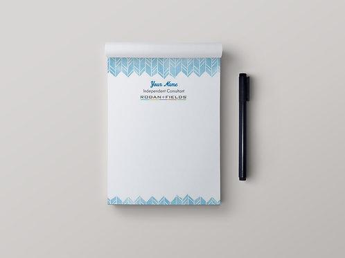 Rodan Fields stationary note pad watercolor blue