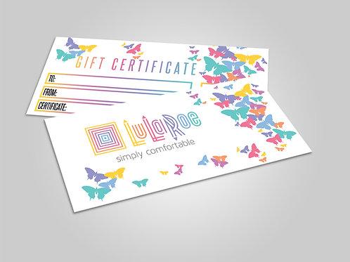 Lularoe gift certificate Dots butterflies