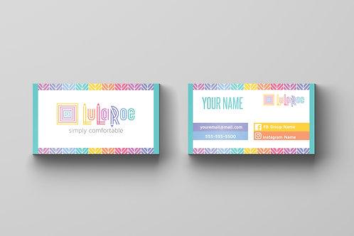 Lularoe business card herringbone