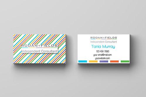 Rodan Fiels business card Stripes diagonal