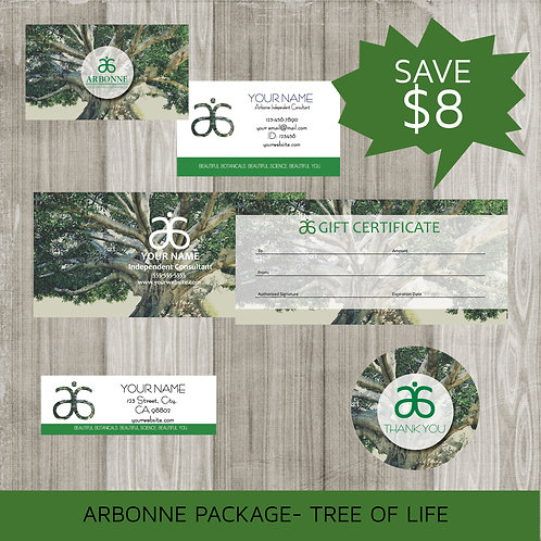 Arbonne marketing kit tree of life